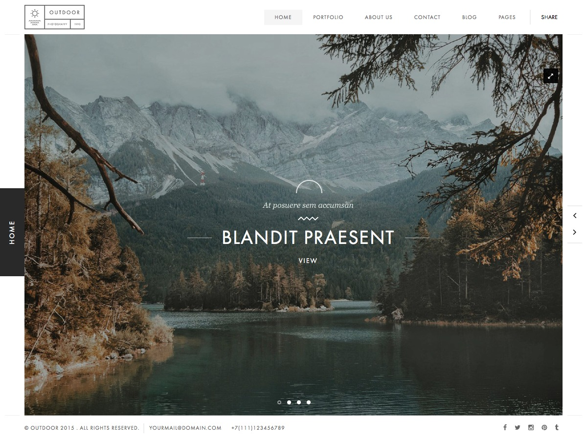 Outdoor WordPress photo theme