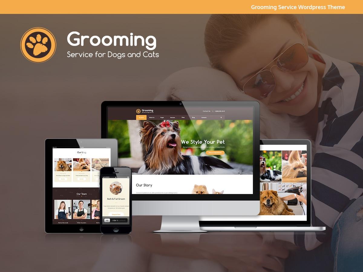 Pets Grooming best WordPress template