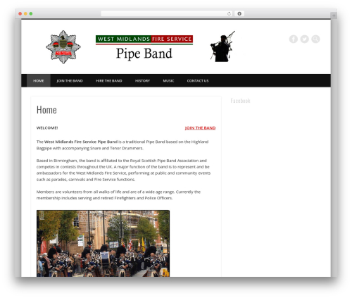 Free WordPress Theme My Login plugin - wmfspipeband.net