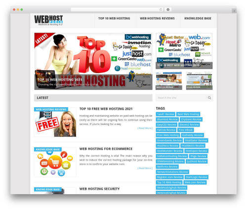 Point WordPress template free download - webhostpedia.com
