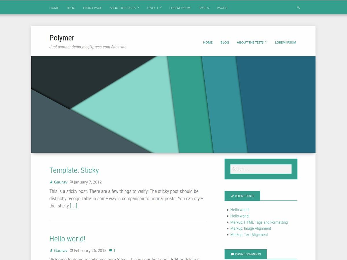 Polymer WP theme