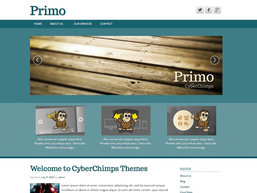 Primo Lite theme WordPress free