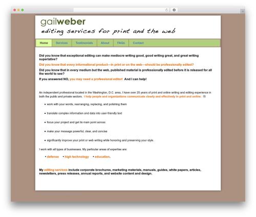 Pro Framework best WordPress theme - webwritingandediting.com