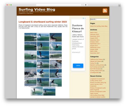 ProSense WordPress blog template - wavestv.com