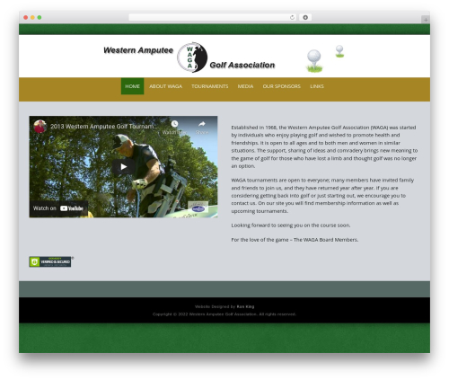 Pure & Simple Pro WordPress theme - wagagolf.org