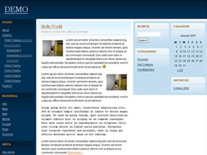 Quadruple Blue WordPress theme
