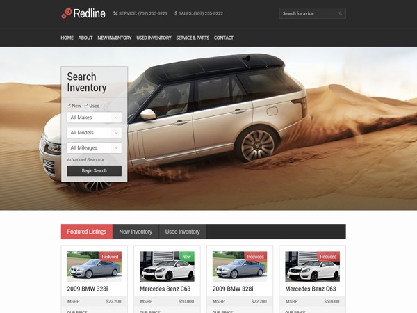 Redline Progression WordPress theme