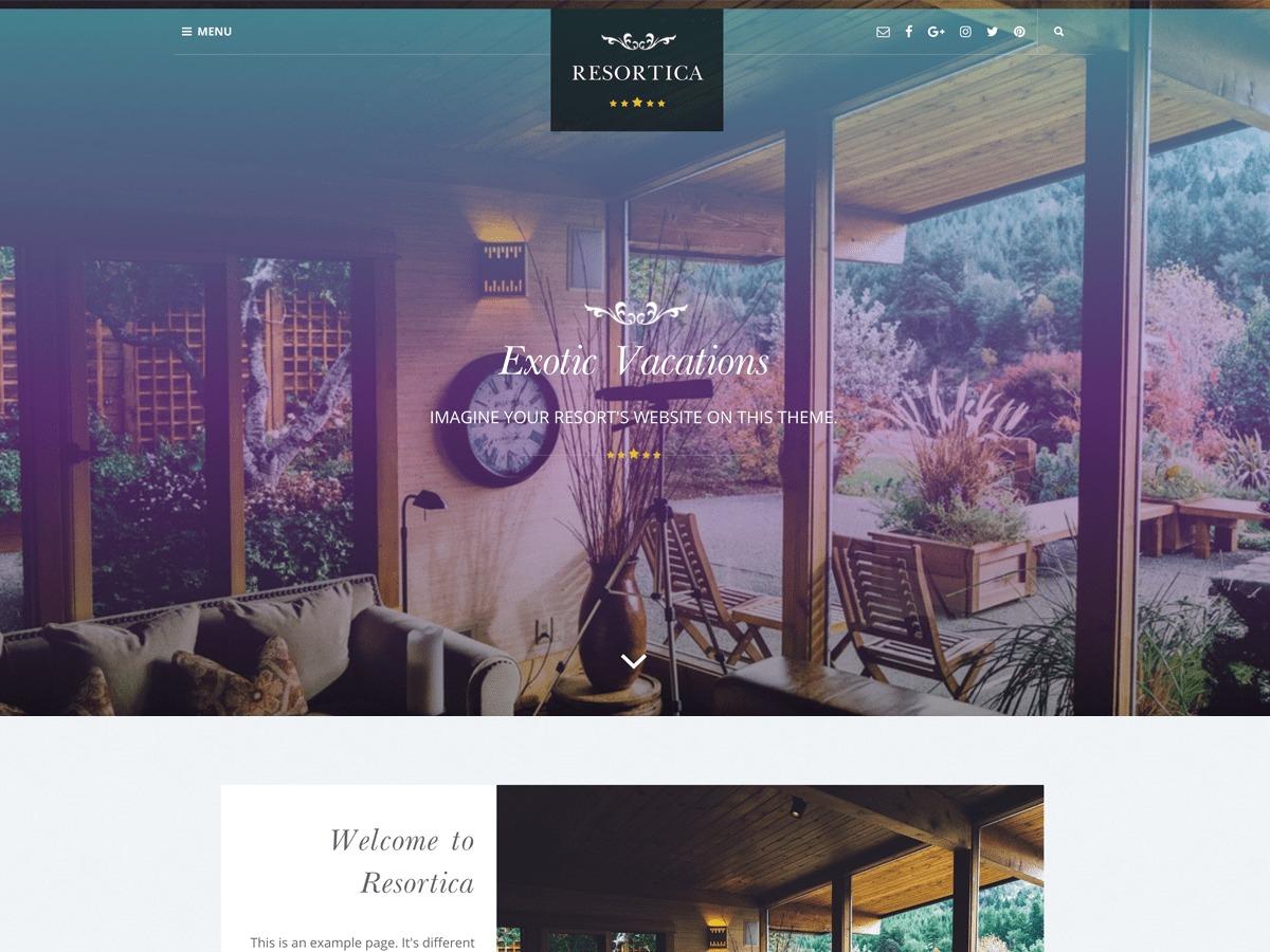 Resortica Lite best restaurant WordPress theme