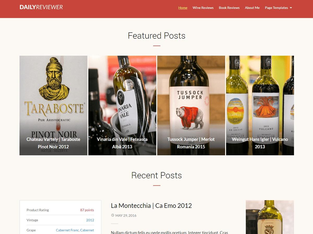 Reviewer free WordPress theme