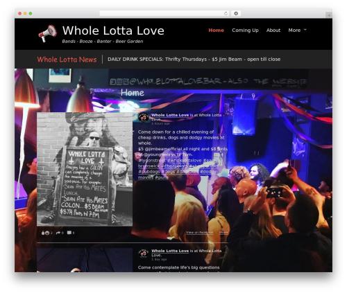 Rock Star Pro landscaping WordPress theme - wholelottalovebar.com