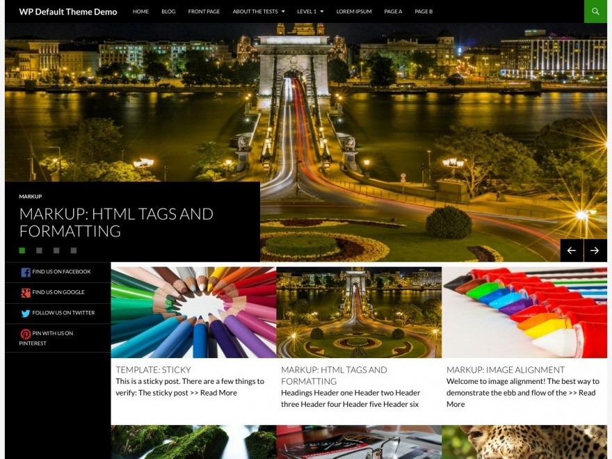 Sequel WordPress blog template