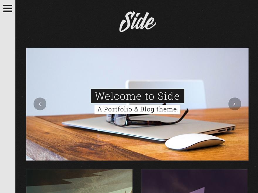 Side best portfolio WordPress theme