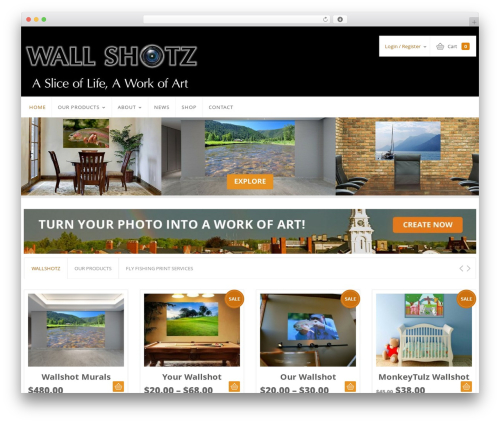 Sistina WordPress page template - wallshotz.com