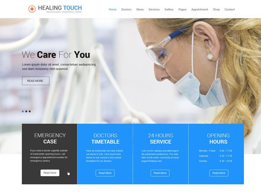 SKT Healing Touch Pro medical WordPress theme