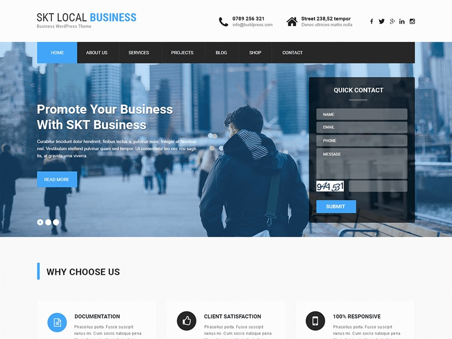 SKT Local Business Pro WordPress ecommerce template