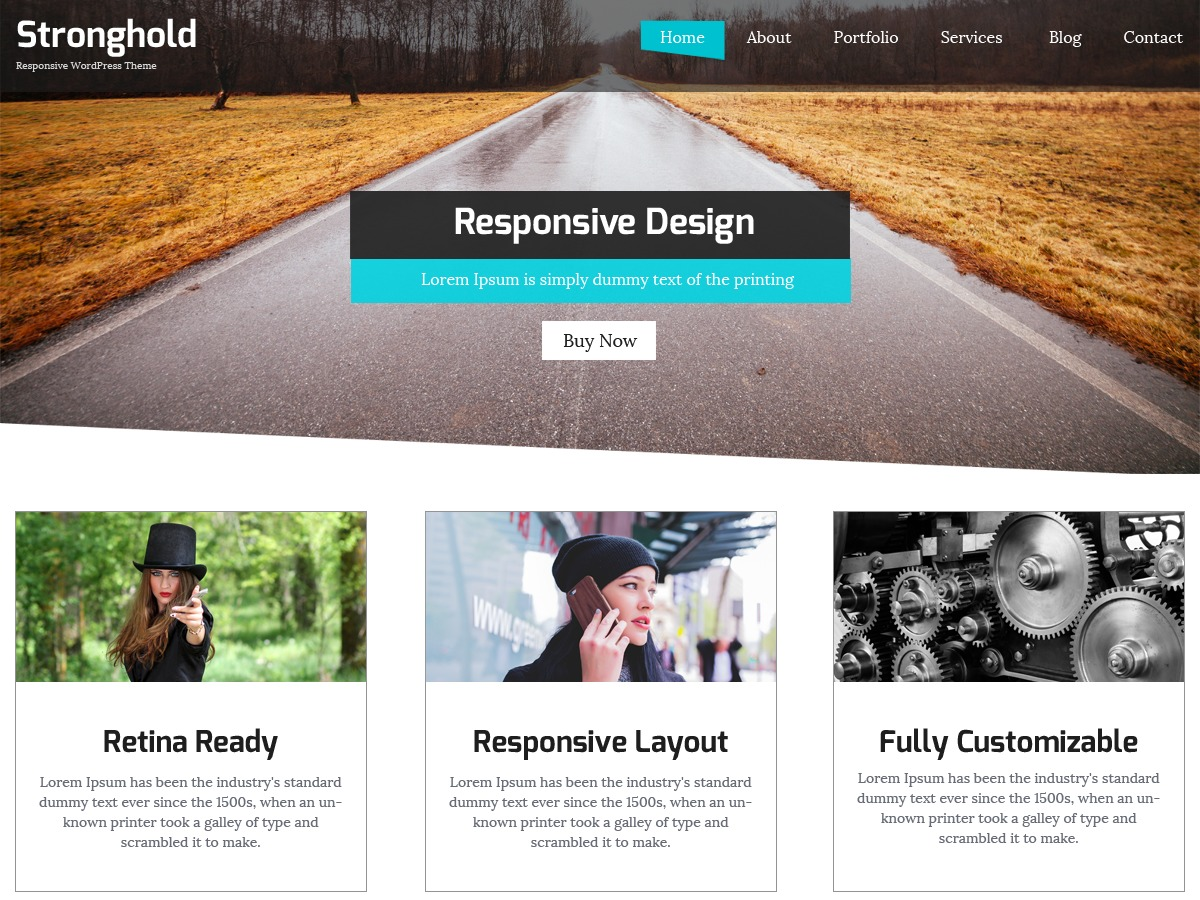 StrongHold business WordPress theme