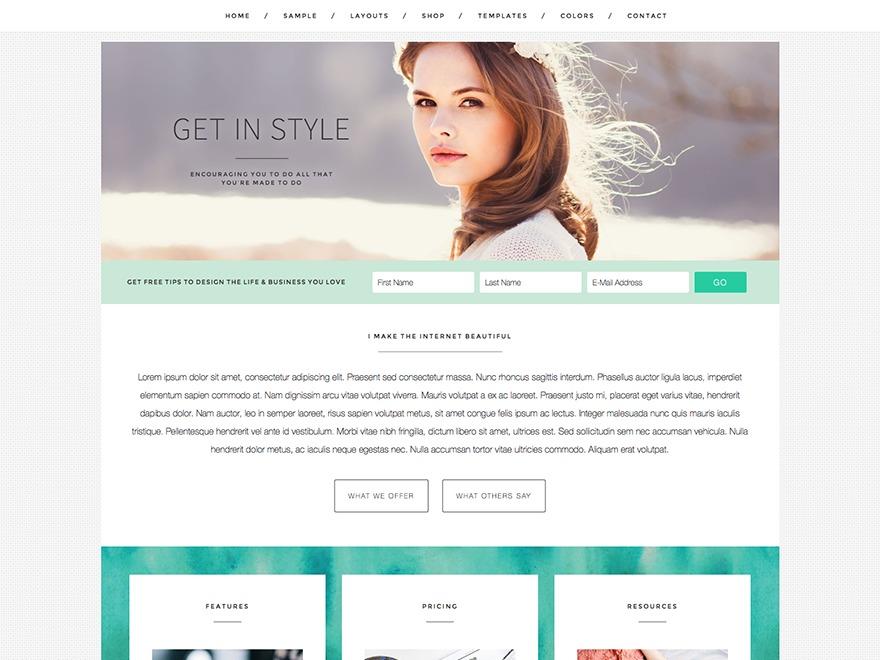 Style Theme WordPress theme