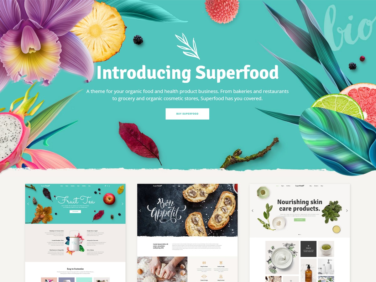 Superfood company WordPress theme