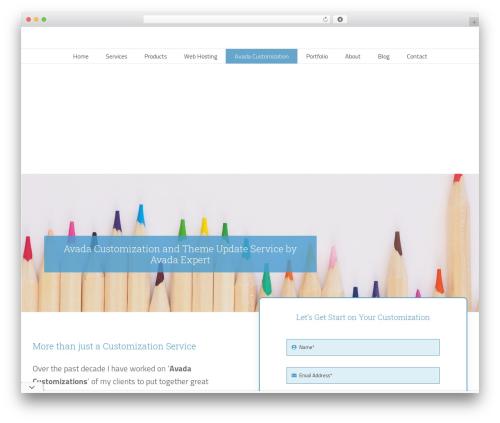 Template WordPress Avada - webzando.com