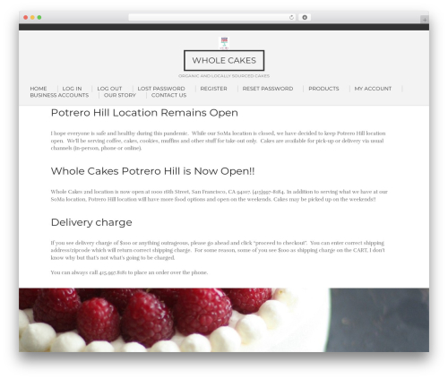 Template WordPress Concept Living - wholecakes.com