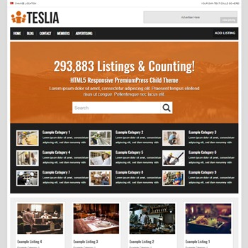 Teslia - PremiumPress Child Theme WordPress theme
