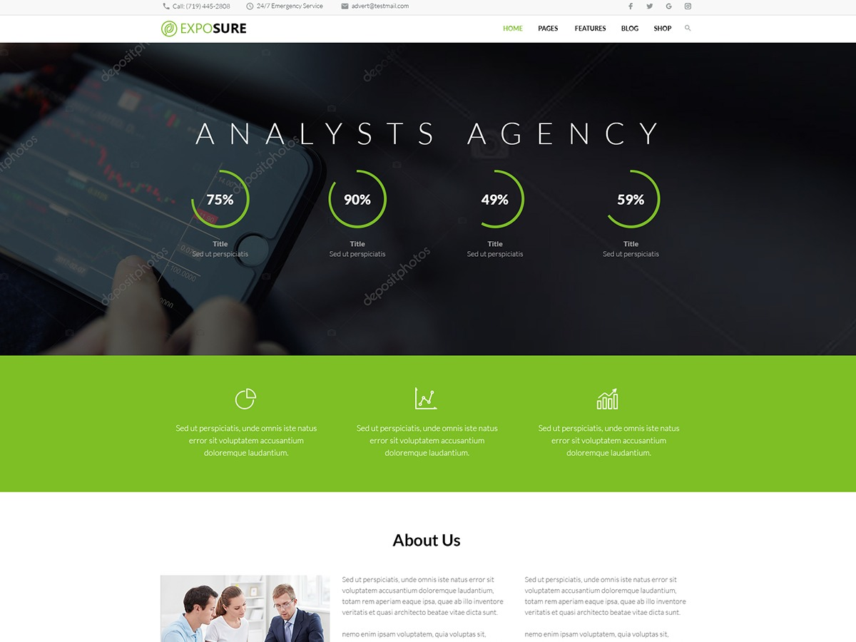 Theme WordPress Exposure Child