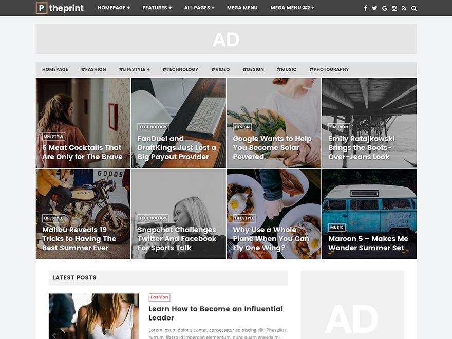 ThePrint WordPress news template