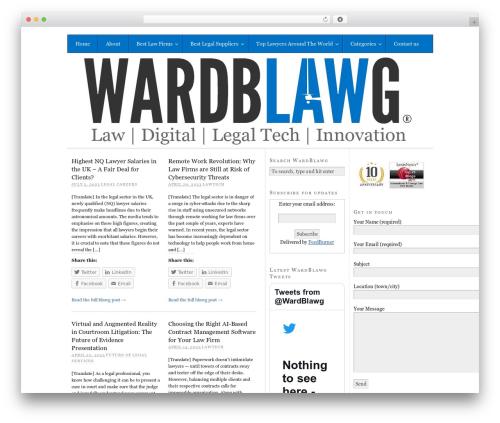 Free WordPress WPFront Notification Bar plugin - wardblawg.com