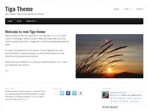 Tiga WordPress blog theme