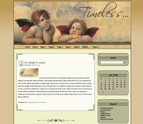 timeless WordPress website template