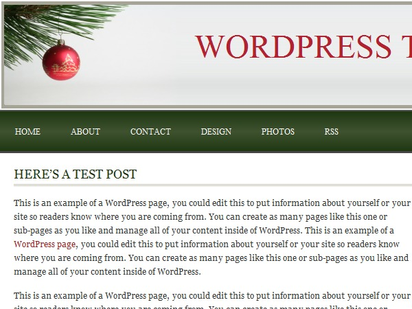 Tis the Season premium WordPress theme