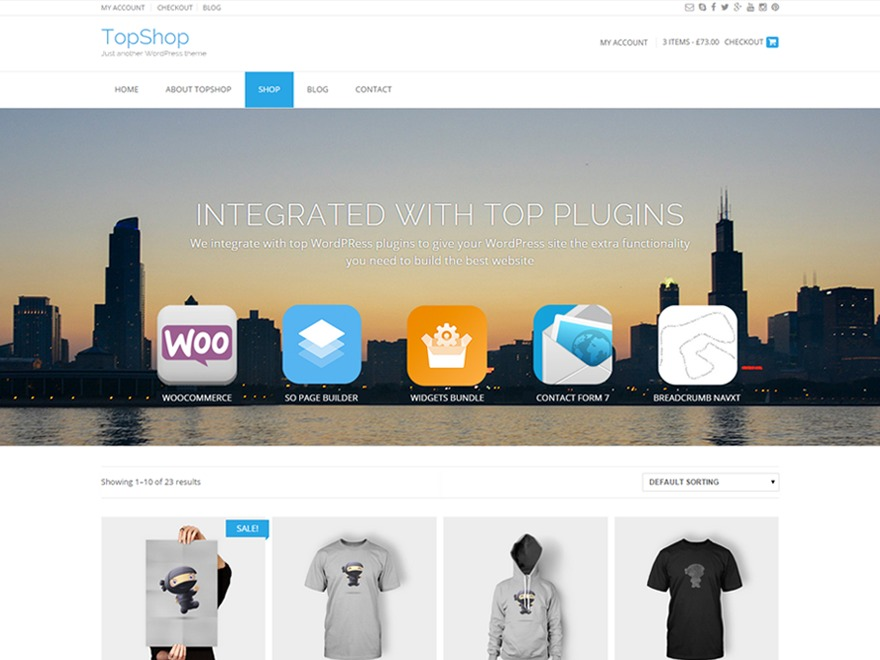 TopShop Premium WordPress store theme