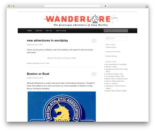 Twenty Eleven theme WordPress free - wanderlore.com