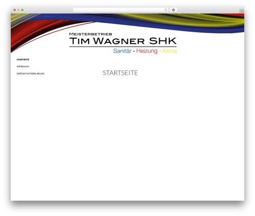 Twenty Fourteen free WP theme - wagner-shk.com