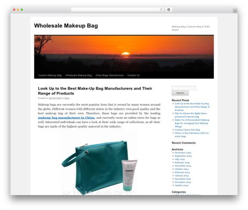 Twenty Ten free WordPress theme - wholesalemakeupbag.com