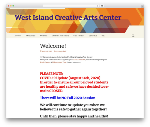 Twenty Thirteen top WordPress theme - westislandarts.ca
