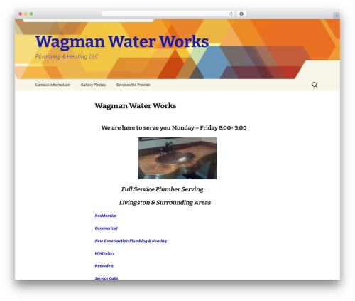 Twenty Thirteen WordPress theme free download - wagmanwaterworks.com
