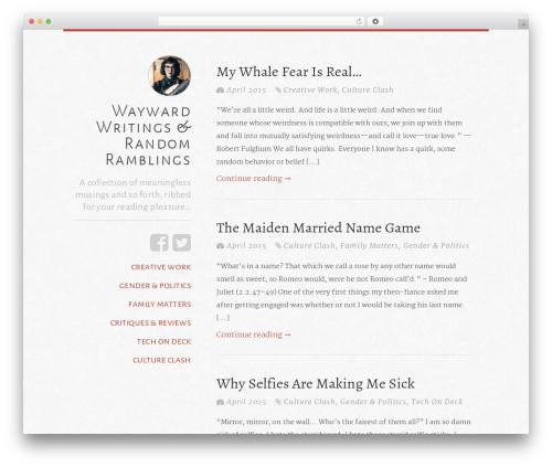 typefocus premium WordPress theme - waywardwritings.com