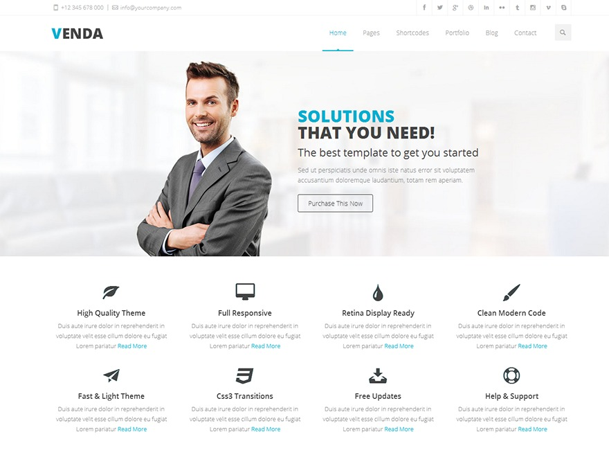 Vella theme WordPress