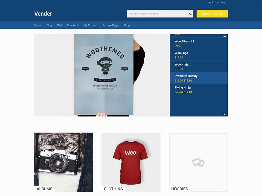 Vender WordPress theme download