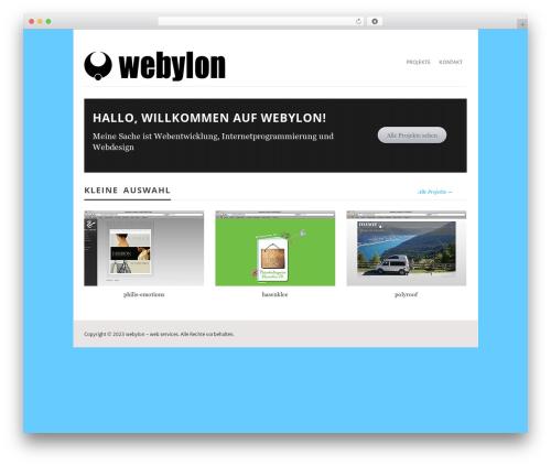 Vimes theme WordPress - webylon.de