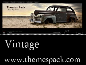 Vintage WordPress blog template