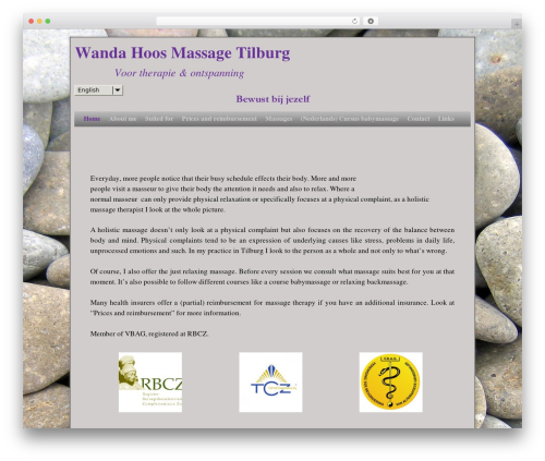 Weaver II massage WordPress theme - wandahoosmassage.nl