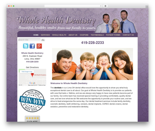 Weaver II WordPress theme - wholehealthdentistry.com