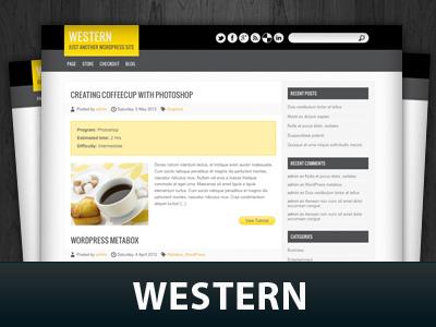 Western WordPress theme