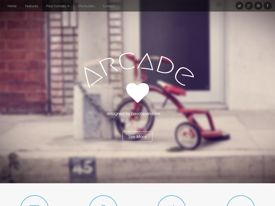 WordPress template Arcade Child