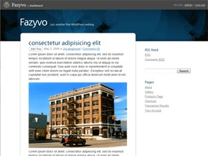 WordPress template Fazyvo
