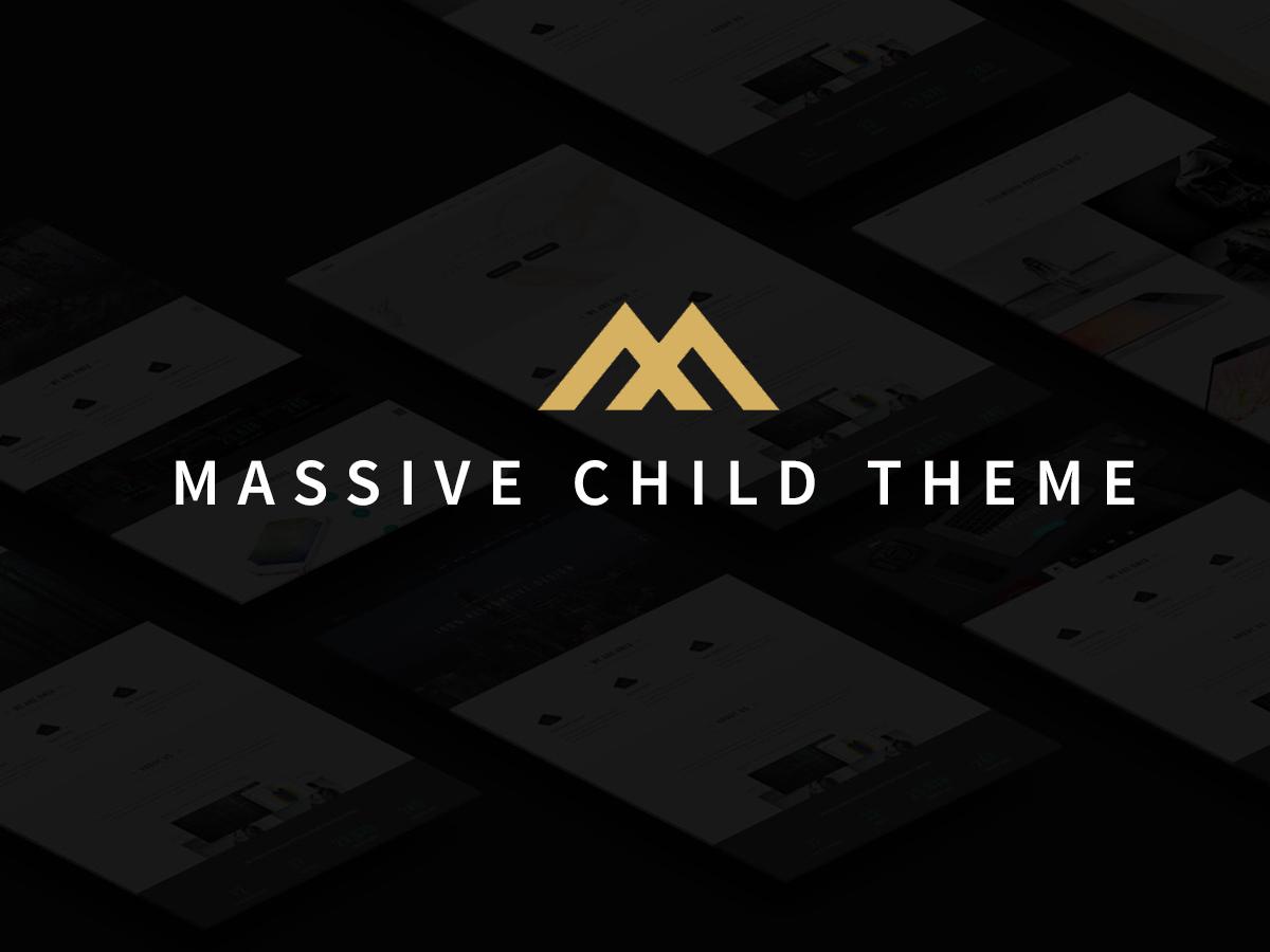 WordPress template Massive Child