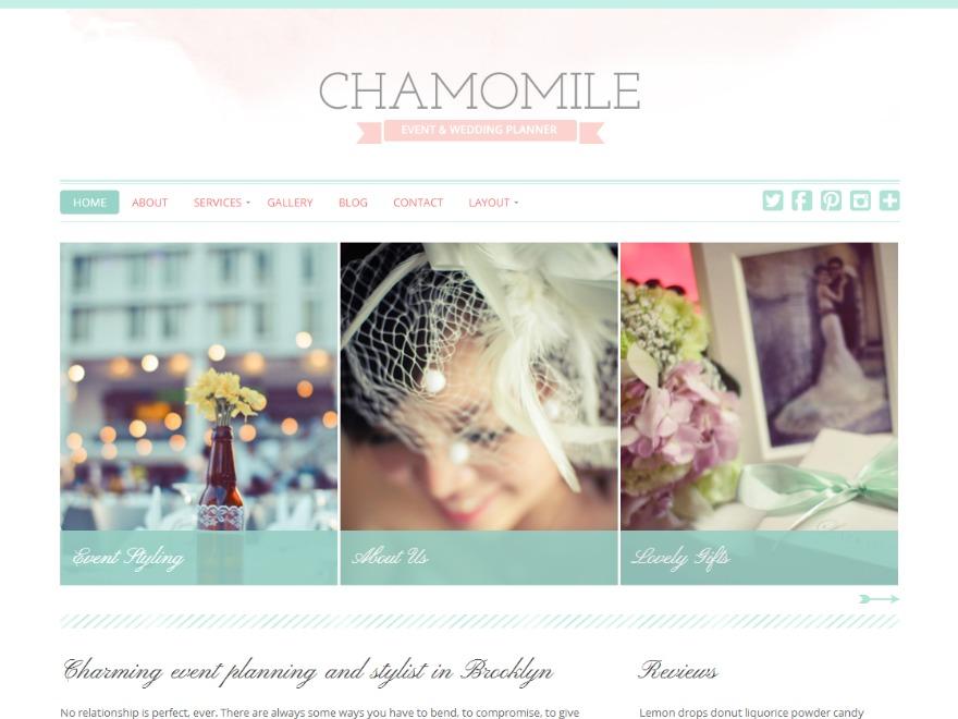 WordPress theme Chamomile