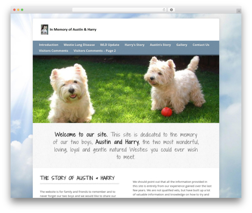 WordPress theme Risen - westielungdisease.co.uk